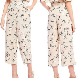 [Urban Outfitters] Blush Floral Wide Leg pants